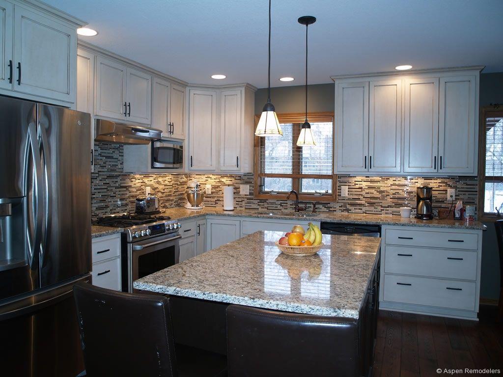 white kitchen cabinets with granite countertops - Google Search ...