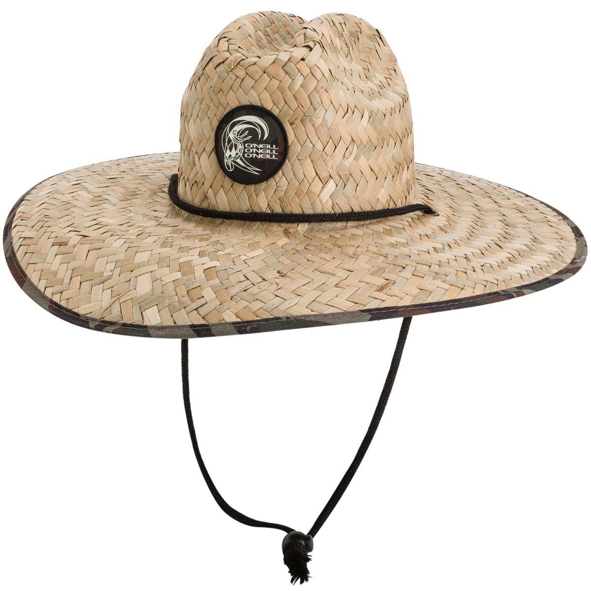 O Neill Sonoma Prints Straw Hat Men S Straw Hat Drawcord