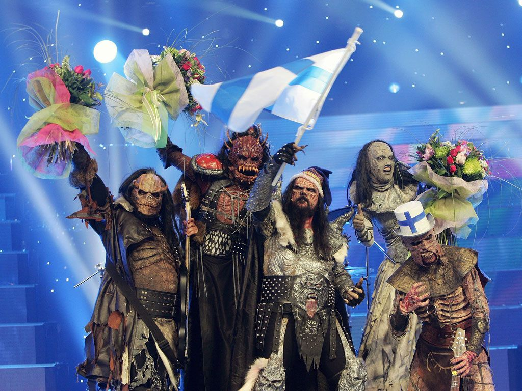 Eurovision Song Contest Winners of 2006 - Lordi with Hardrock ...