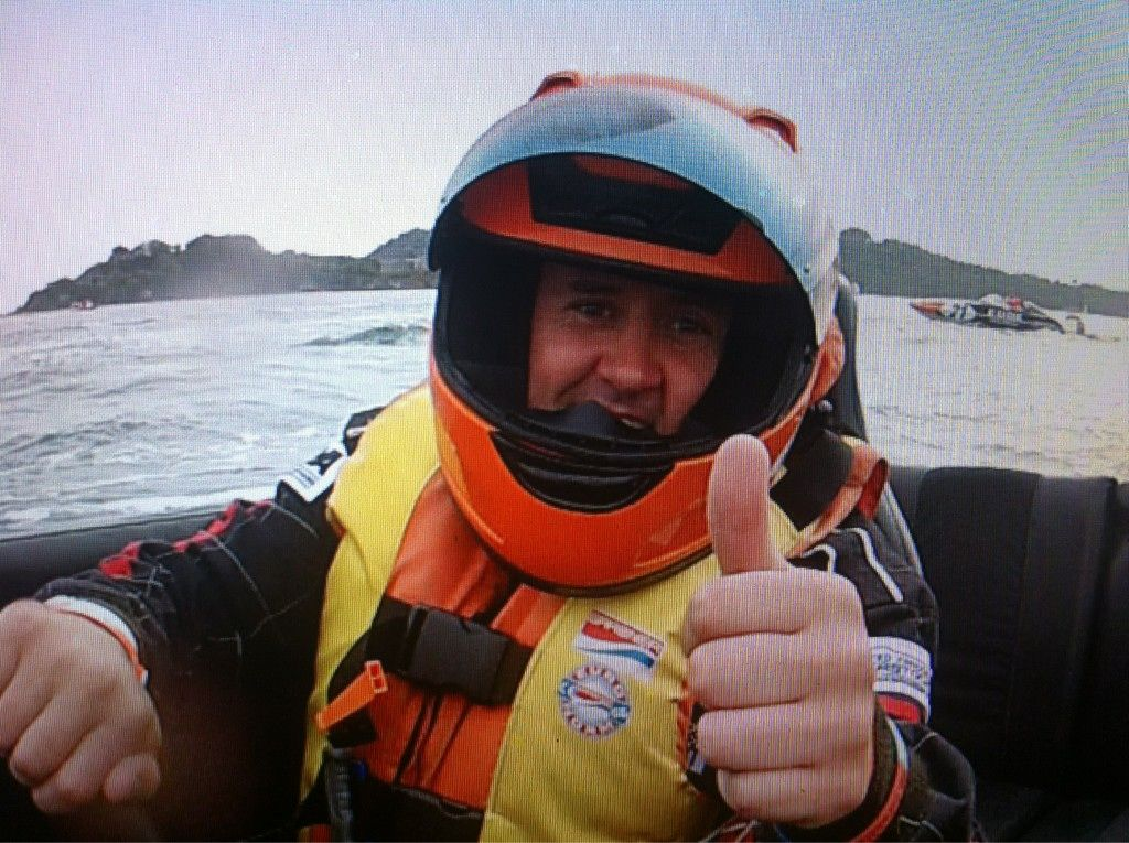 Mark Neale on completing his first P1 Powerboat race with us in Plymouth.