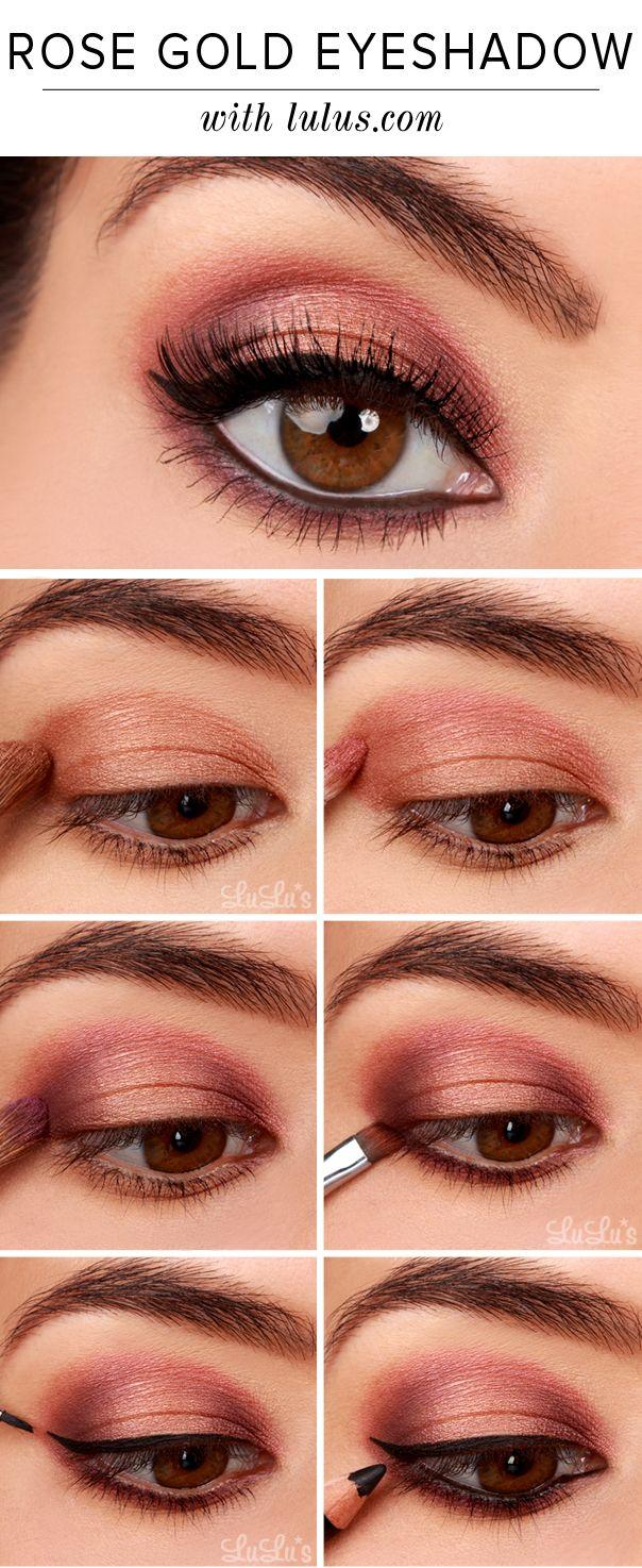 Lulus How To Rose Gold Eyeshadow Tutorial Beleza