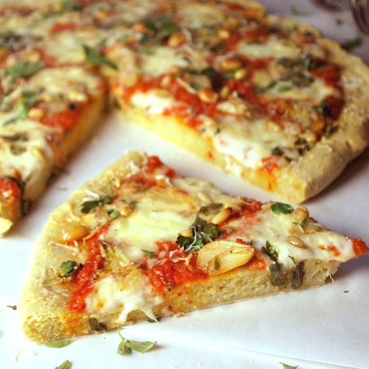 Cornmeal Crust Pizza | Recipe | Cornmeal pizza crust, Food ...