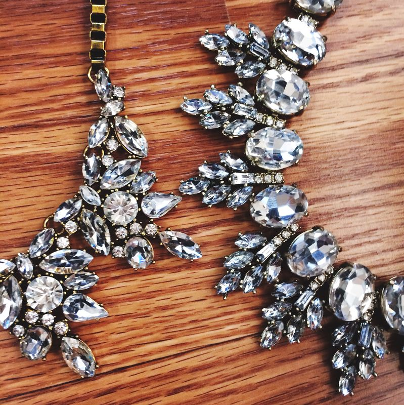 Luxe Crystal Cluster Necklace #ITJDesigns