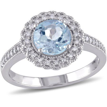 Amour Sterling Silver 4 3//8 CT TGW Sky Blue Topaz Three-Stone Ring 925