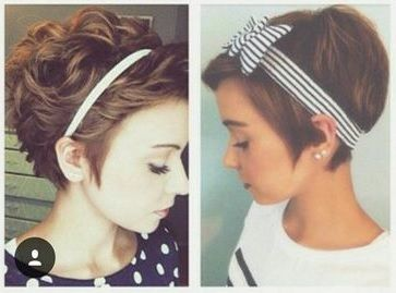 Pixies With Headbands Headbands For Short Hair Headband Hairstyles Short Hair Accessories