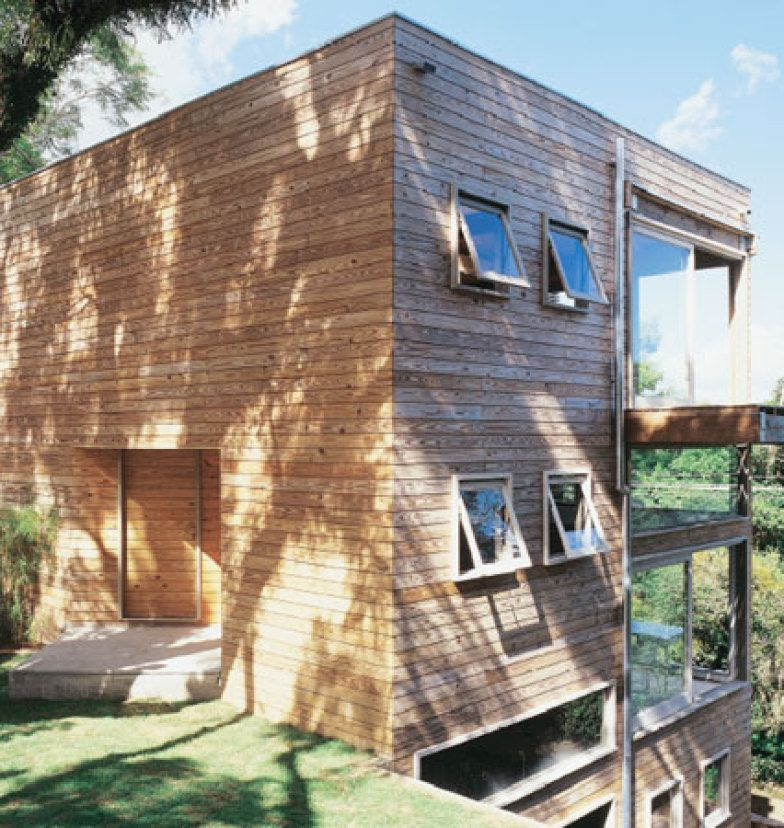 Steep Slope House Design Goes Vertical Just Like Trees: Casa Em Terreno Estreito E Lo0ngo