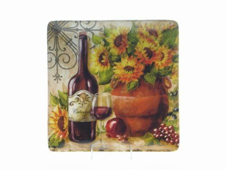 Amazon.com: Certified International Tuscan Sunflower Square Platter, 12-1/2-Inch: Kitchen & Dining
