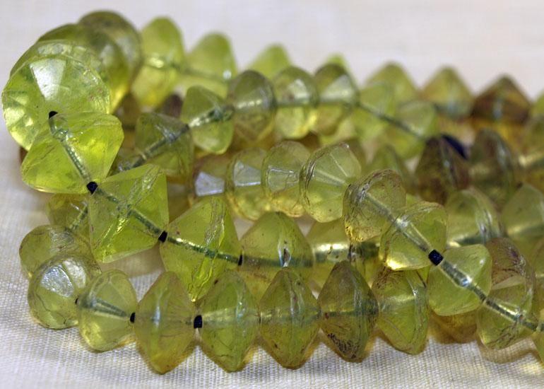 Jonquil/Yellow Vaseline Beads