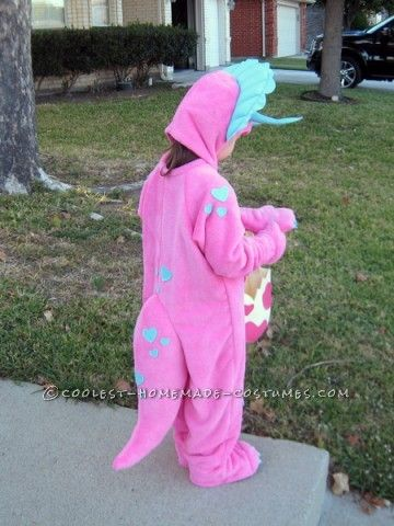 97134ad4359 Triceratops Costume Girl & Homemade Pink Triceratops Halloween ...