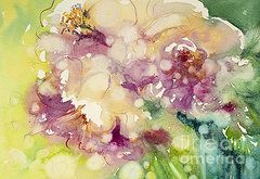Floral Watercolor Paintings - Sundappled Rose  by Judith Levins