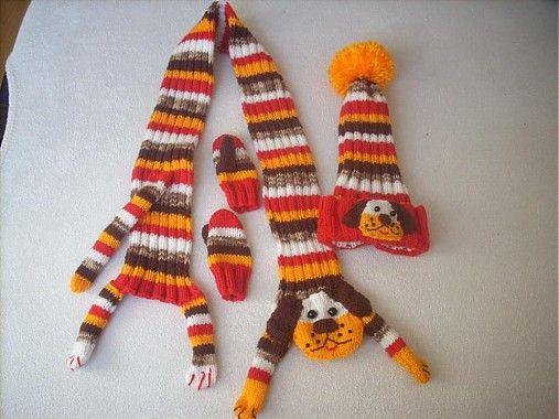 Havkový setík + rukavičky  by Monika.M - SAShE.sk - Handmade Súpravy this is knit but cute idea