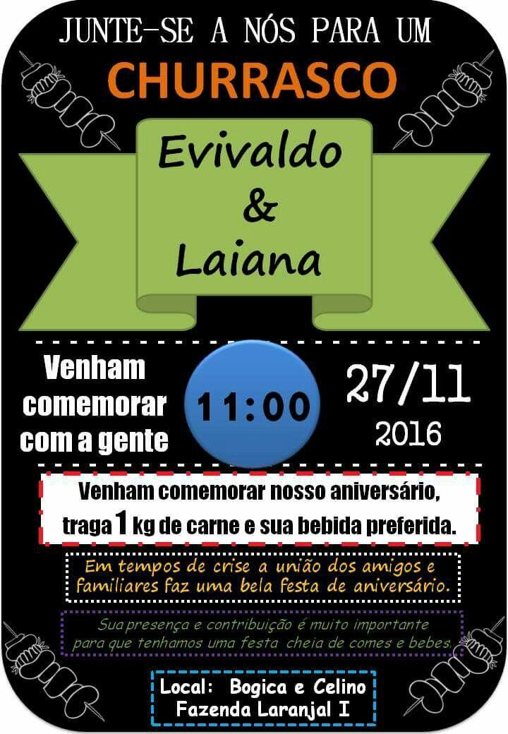 Convite Churrasco Comunitário Festa De Tio E Sobrinha Produção