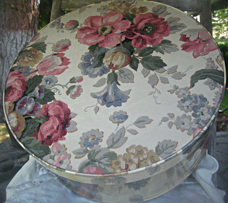 Vintage Clear Hat Box, Floral Hat Box, Roses Hatbox, Studio Storage, Storage  Box, Closet Storage, Cottage Hat Box, Supply Storage Box