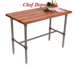 John Boos U0026 Chef Depot Cherry Bar Table, Picture 1