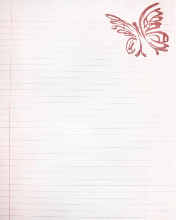 Printable Pink Tribal Butterfly Lined Journal Page by InkedInk - lined page