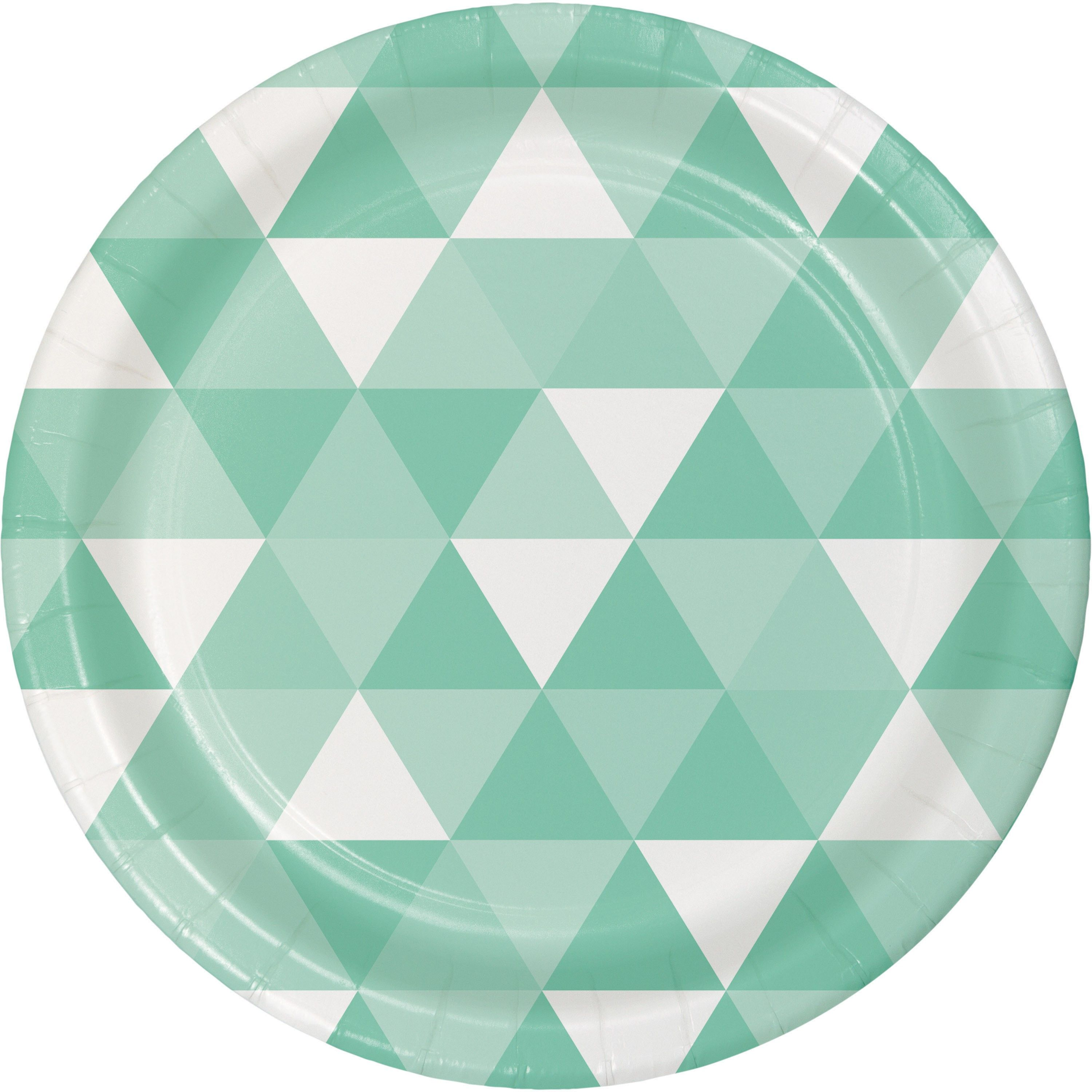 """6 7/8"""" Fresh Mint Paper Luncheon Plate/Case of 96 Tags: Fractal; Luncheon Plate; Fractal; Fractal Fresh Mint Luncheon Plate; https://www.ktsupply.com/products/32786351299/6-78doublequote-Fresh-Mint-Paper-Luncheon-PlateCase-of-96.html"""