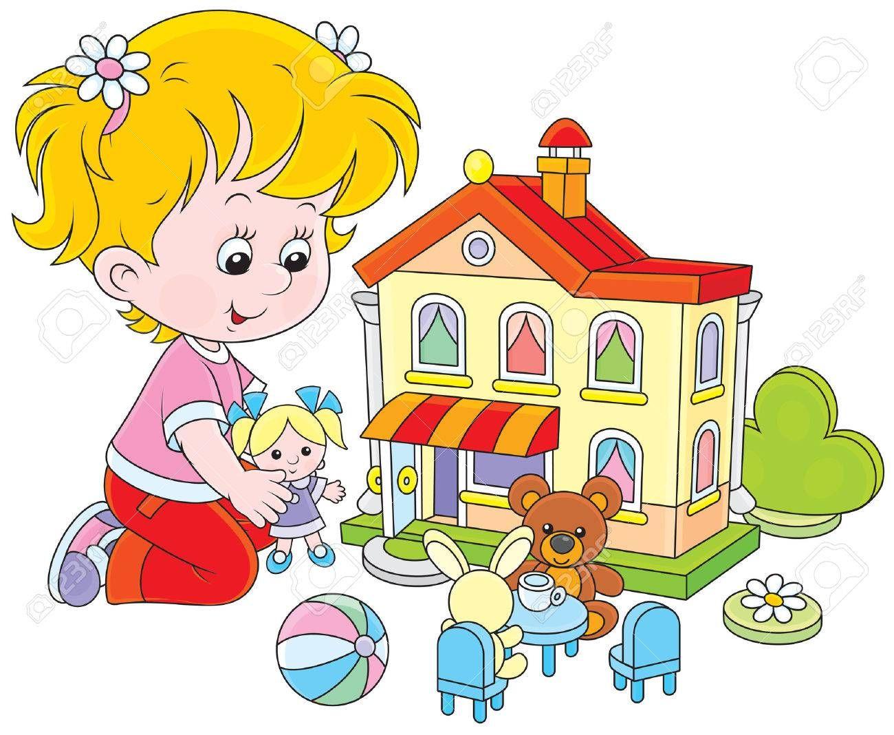 Resultado De Imagen Para Nina Jugando Con Munecas Toy House Girls Play Clip Art