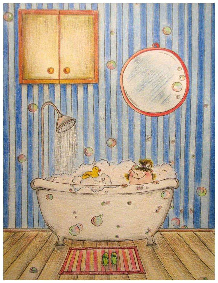 Annie In A Bath By Adnil On Deviantart Ilustraciones