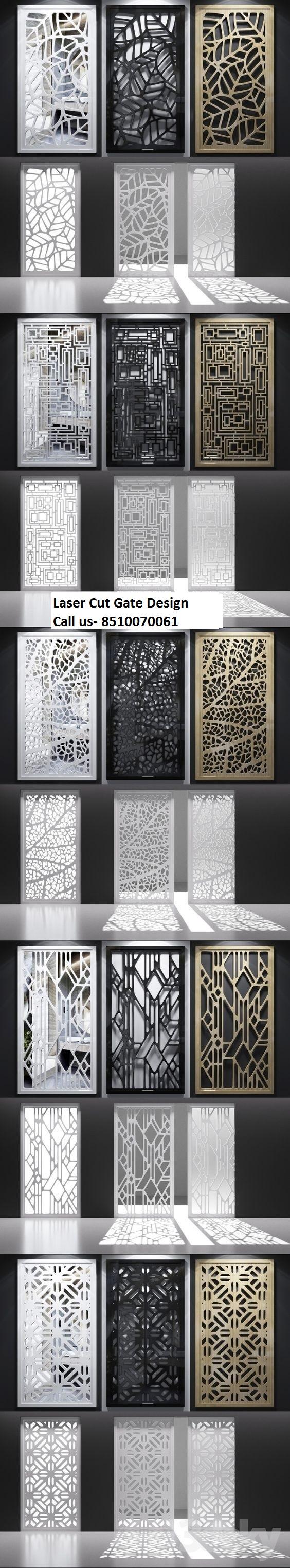 Front Elevation Jali Design : Laser cut gate railing decorative screen metal steel