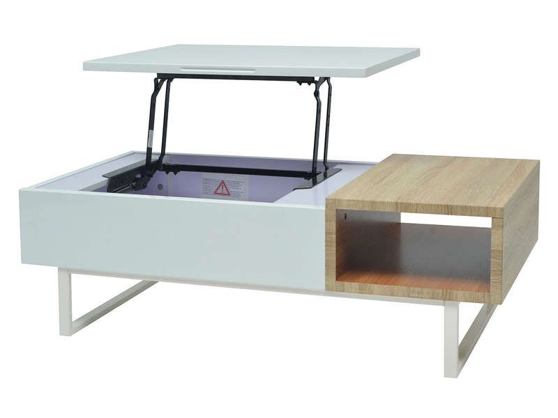 Table Basse Rectangulaire 120 Cm Theo Coloris Blanc Bois Vente De Table Basse Conforama Wohnung