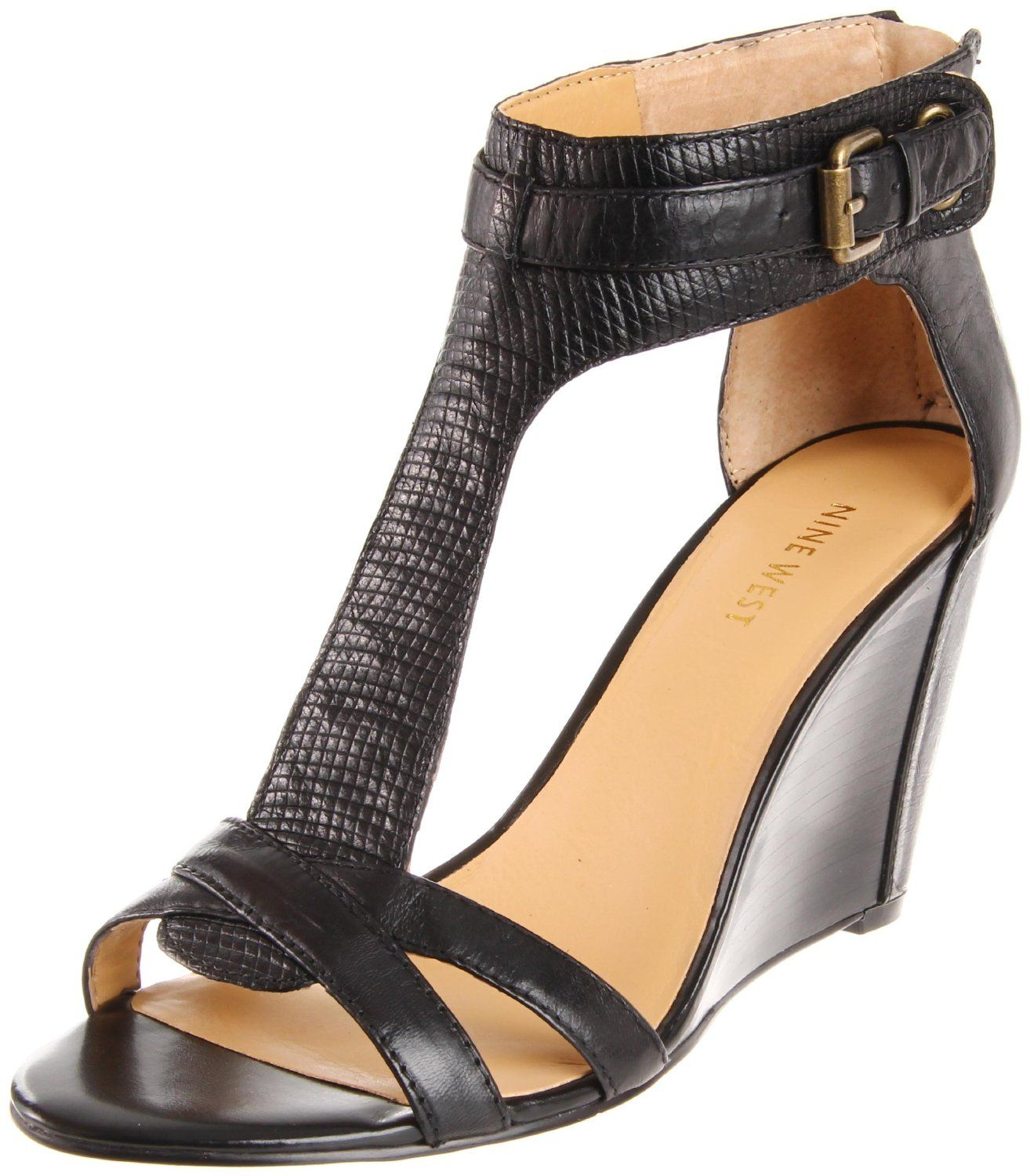 Black sandals shoes