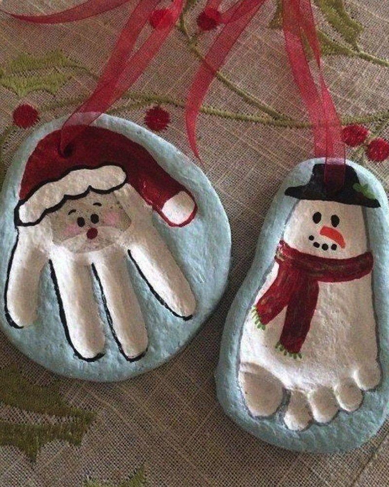 9 déco de Noël en pâte à sel à faire avec les enfants #activitémanuelleenfantnoel