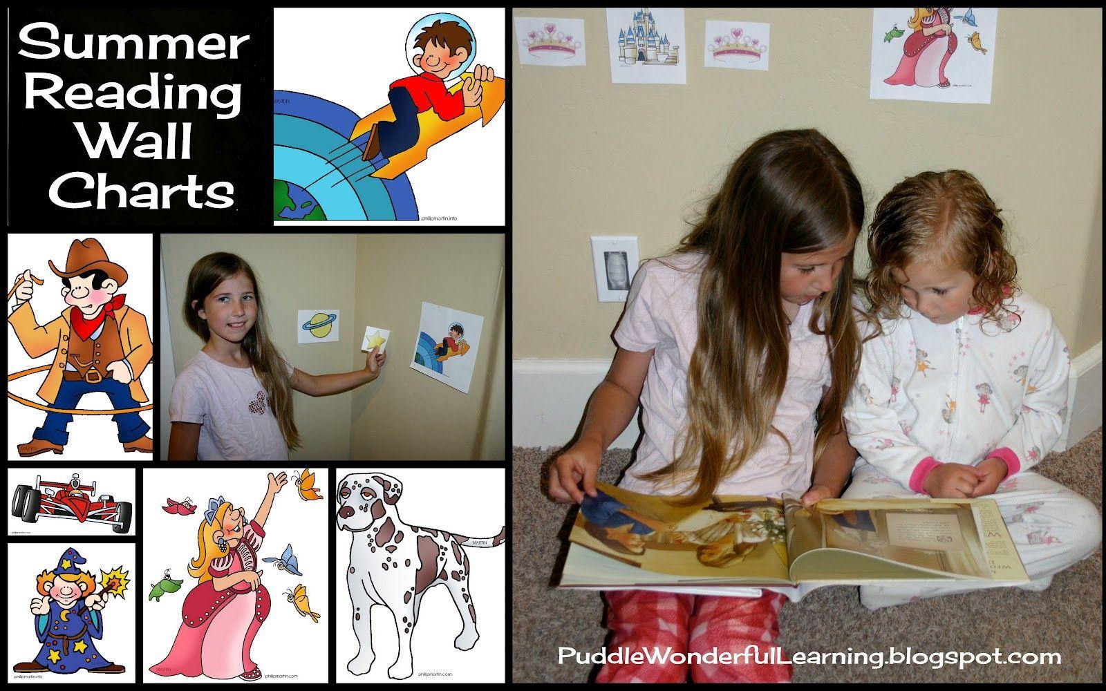 Free Super Cute Printable Summer Reading Wall Charts