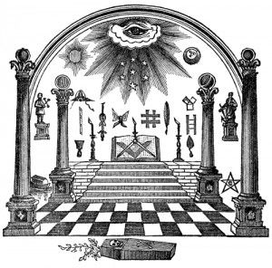 Image result for masonic checkered floor