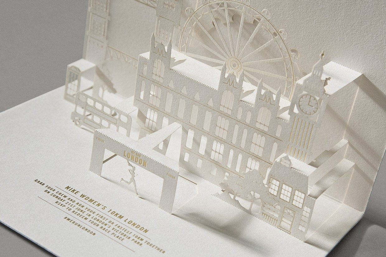 精緻雕刻的NIKE倫敦路跑邀請卡 | MyDesy 淘靈感