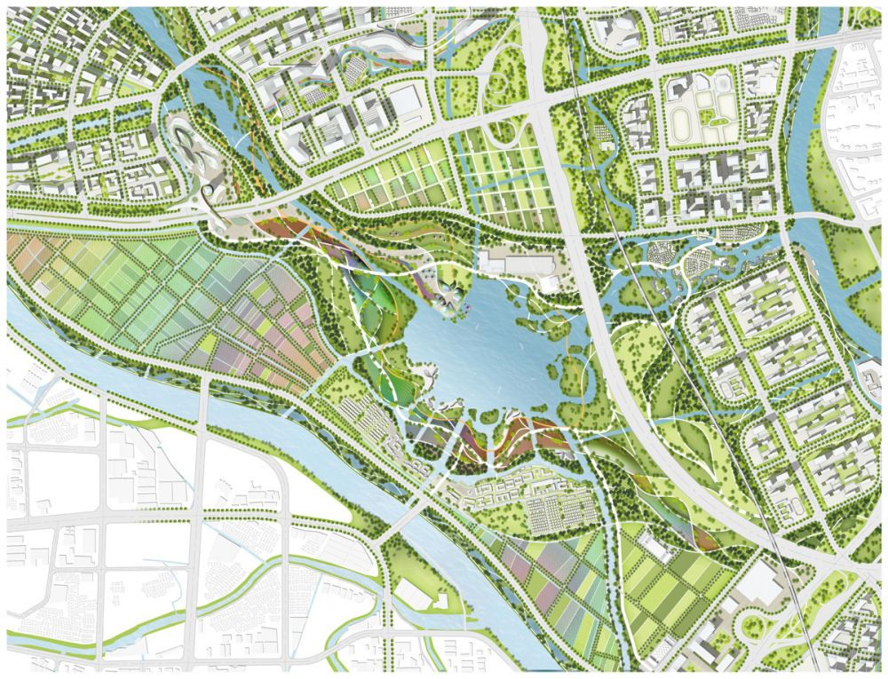 guangzhou fangcun huadi sustainable master plan competition