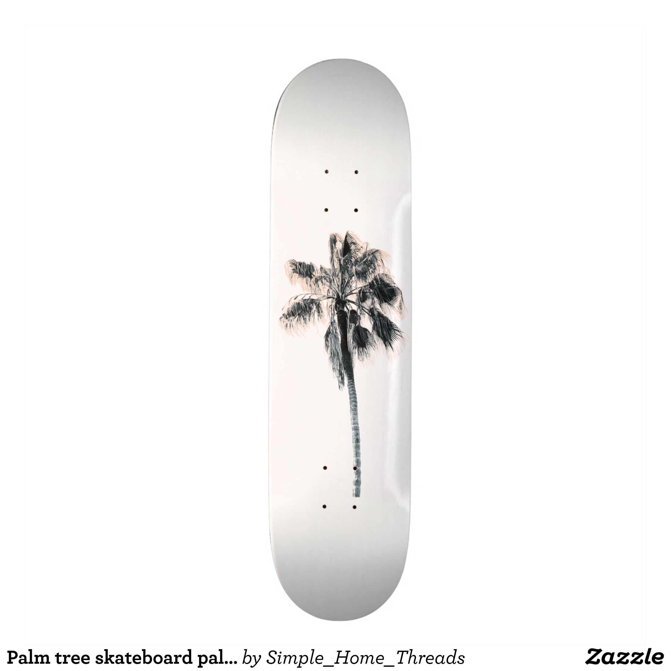 Palm Tree Skateboard Palm Tree Deck Zazzle Com Tree Deck Skateboard Cool Skateboards