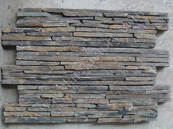 Multicolor Slate Stack Stone Veneer 02 Quarry Manufacturer Tile