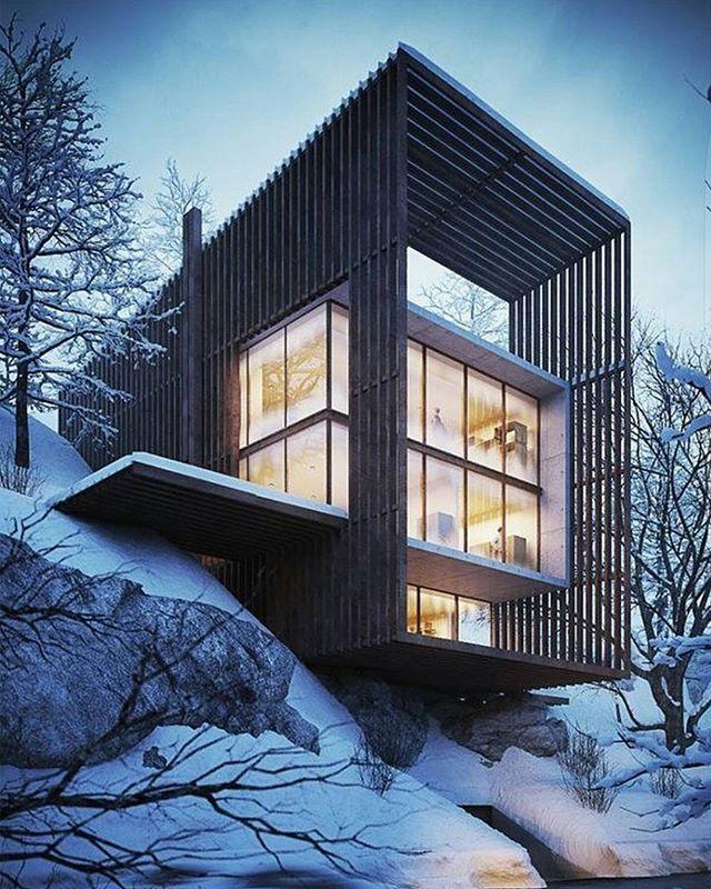 Modern Contemporaryhome Exterior Design: Pin Em Residential Housing