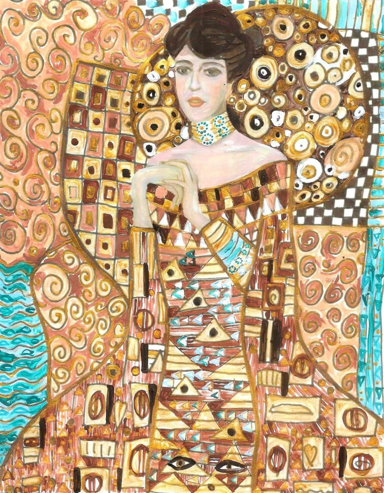 More Klimt Art is part of Klimt art, Klimt, Art, Elementary art, Gustav klimt, Artist - Following Charlotte Mason's approach, we have continued to look at and enjoy a famous artist and his works for several weeks  This week we enjoyed more of Klimt's amazing art  Once aga…