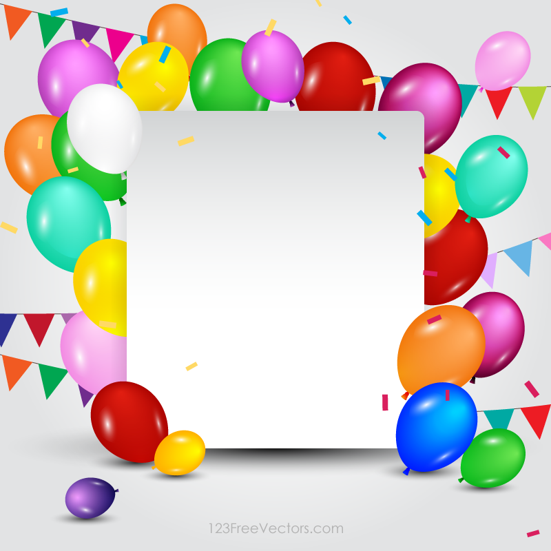 Happy Birthday Card Template  Free Vectors    Birthday