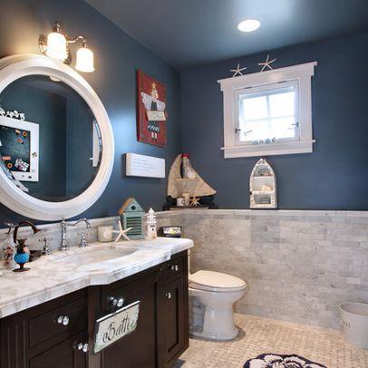 mirror blue color bathroom design ideas pictures. Black Bedroom Furniture Sets. Home Design Ideas
