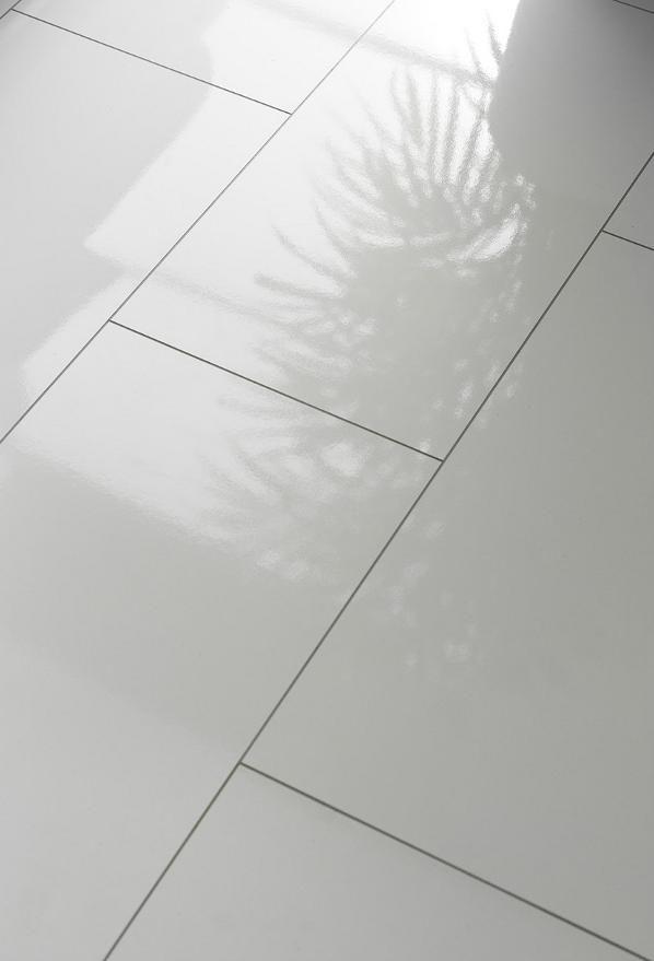 laminate tile effect white high gloss
