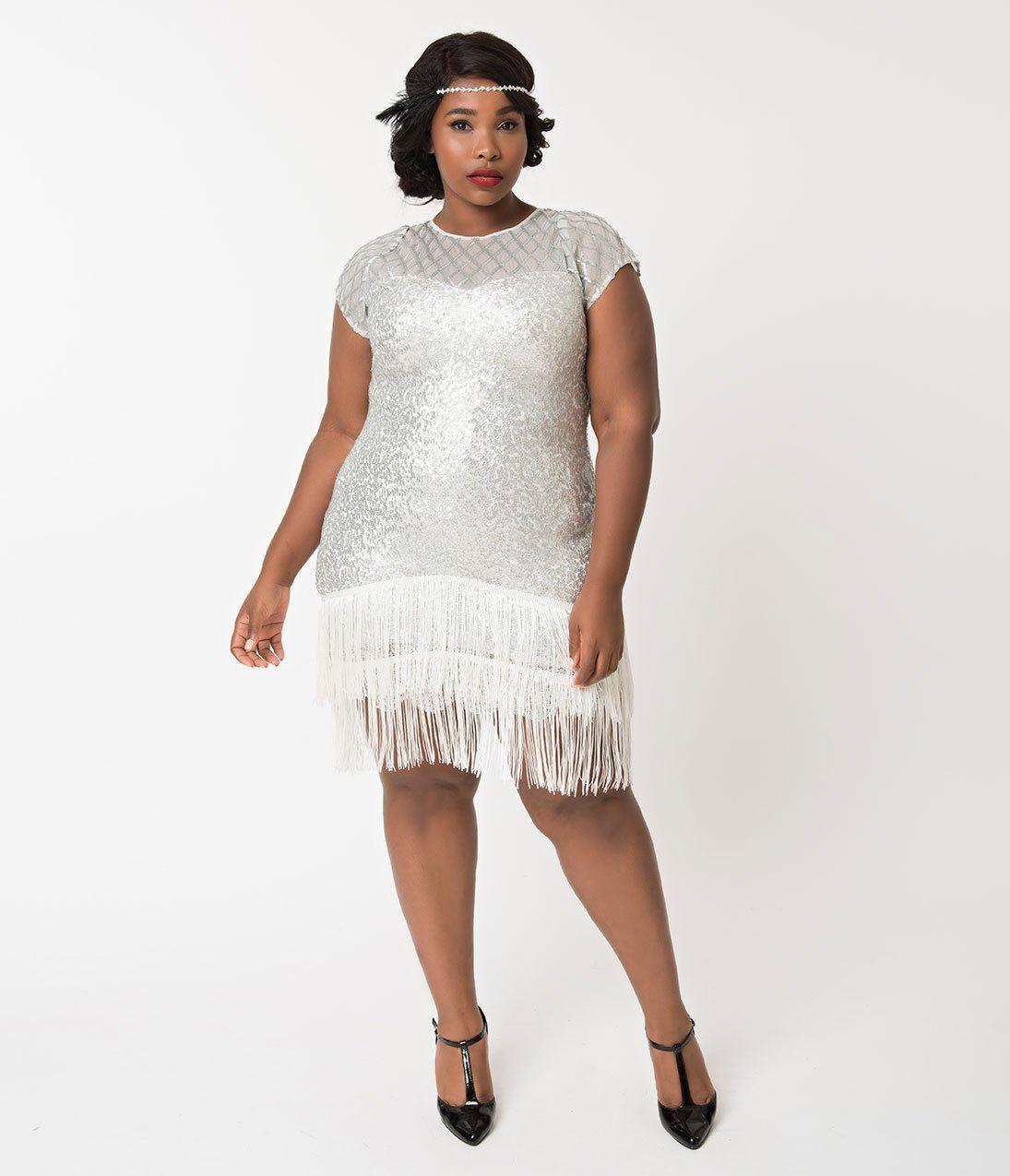 1920s Plus Size Flapper Dresses Gatsby Dresses Flapper Costumes Unique Vintage Style Wedding Dresses Plus Size Flapper Dress Vintage Inspired Wedding Dresses [ 1275 x 1095 Pixel ]