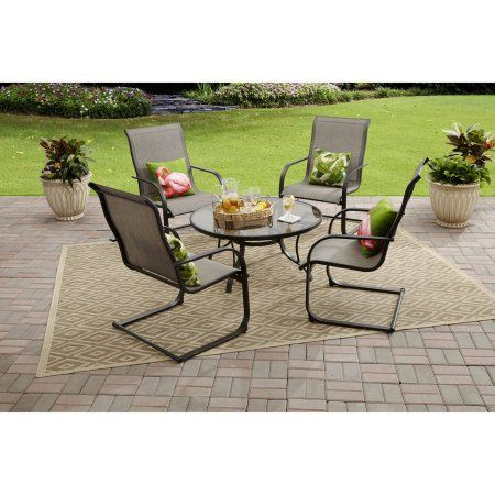 mainstays bristol springs 5 piece chat set gray box 1 of 2 products rh pinterest es
