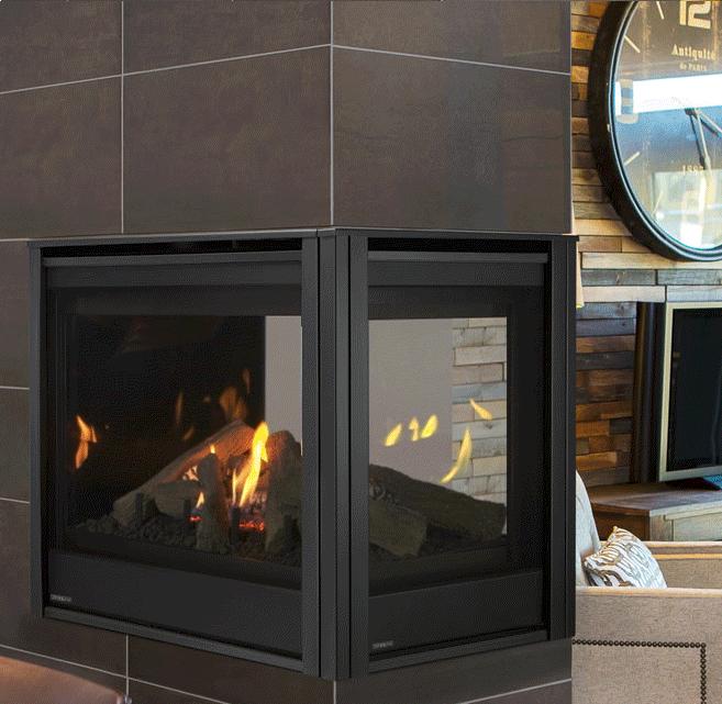Majestic Pearl Ii 36 Inch Peninsula Direct Vent Gas Fireplace