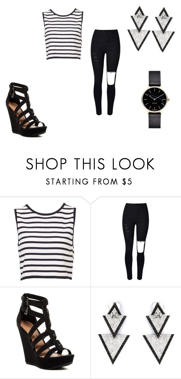 """""""Untitled #303"""" by parisgirl000 ❤ liked on Polyvore featuring WithChic, Chinese Laundry, Elise Dray and Myku"""