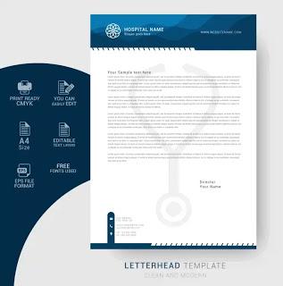 تحميل تصميم ورق رسمي جاهز Letterhead Template Letterhead Templates
