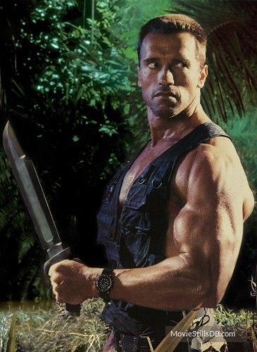 Predator - Promo shot of Arnold Schwarzenegger | 80's Action in 2019