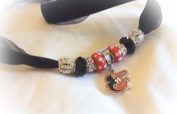 Baltimore ORIOLES jewelry bracelets handmade Necklace by SWANKEE