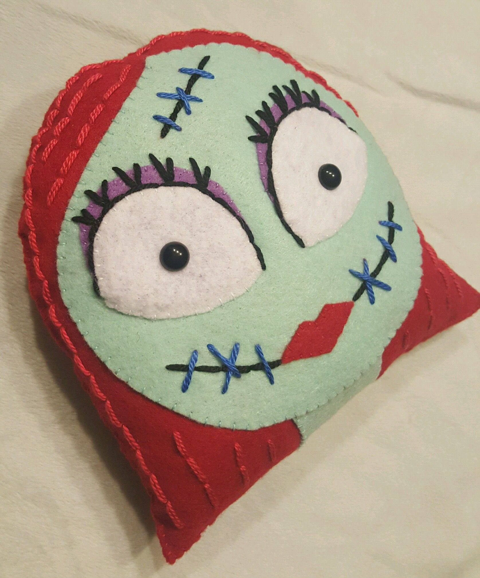 Sally from the Nightmare Before Christmas Handsewn felt doll/plush ...