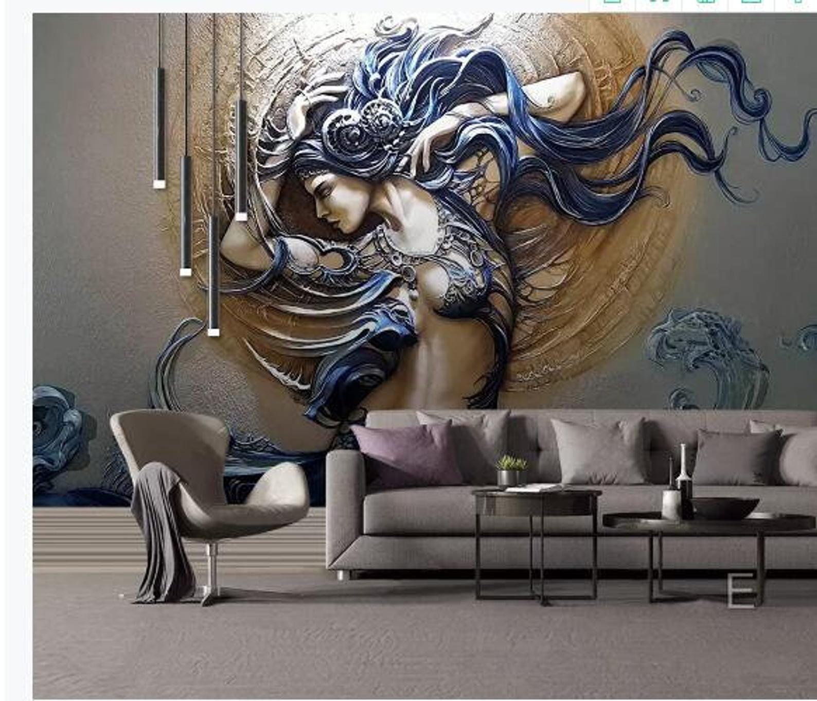 Custom Mural Wallpaper For Walls 3D Stereoscopic Embossed