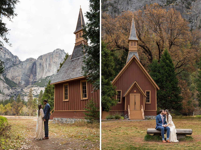 Yosemite Valley Chapel Wedding
