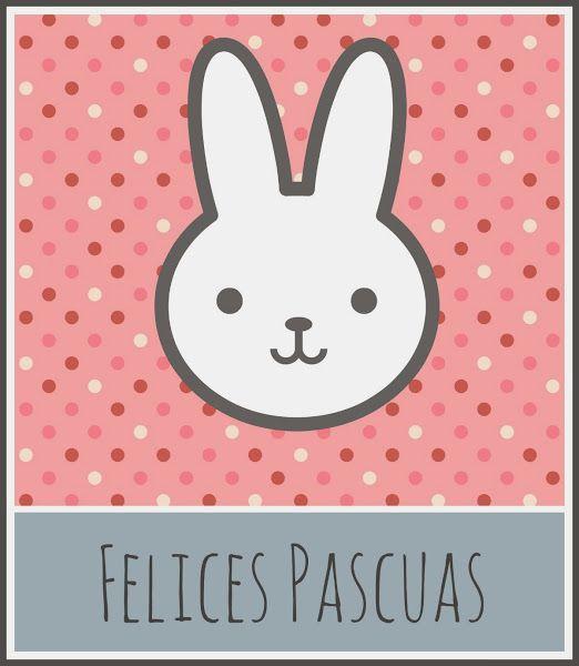 Tarjeta de Pascua descargable gratis / Free printable Easter card
