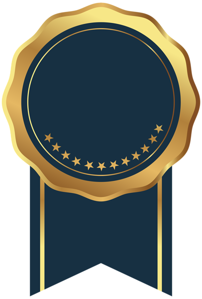 a97f21523d27 Seal Badge Gold Blue Transparent Image