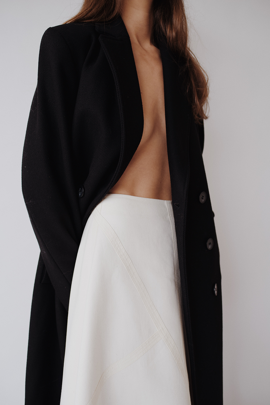 Monochrome in 2020 Long black coat, Black coat, Zara leather